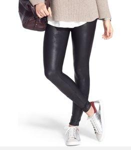 NWT SPANX Faux Leather Leggings SZ M